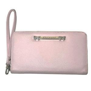 New! Betsey Johnson Pink Clutch Wristlet Wallet